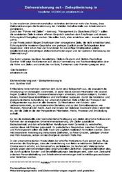 Literatur Zielvereinbarung out - Zieloptimierung in