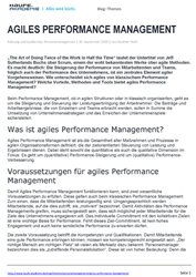 Literatur Agiles Performance Management